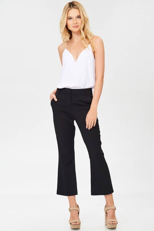 high waisted petite pants for work