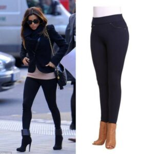 Petite high waisted jegging navy