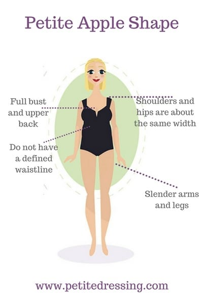 Fashion tips on how to dress if your petite body shape is apple shape