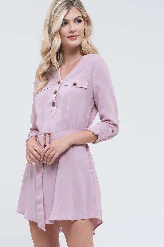 belted dress petite