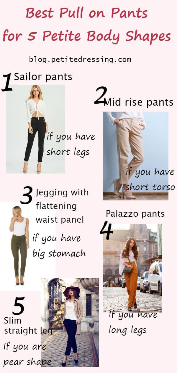 petite pull on pants