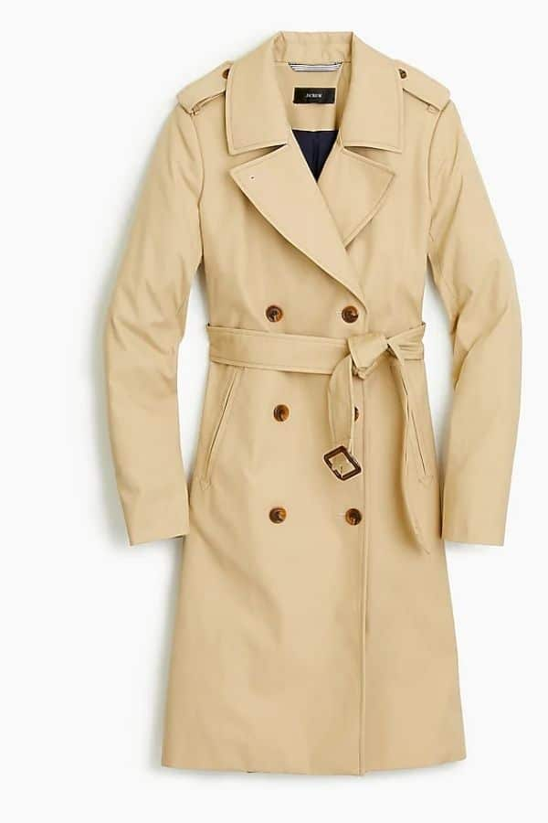 jcrew petite trench coat