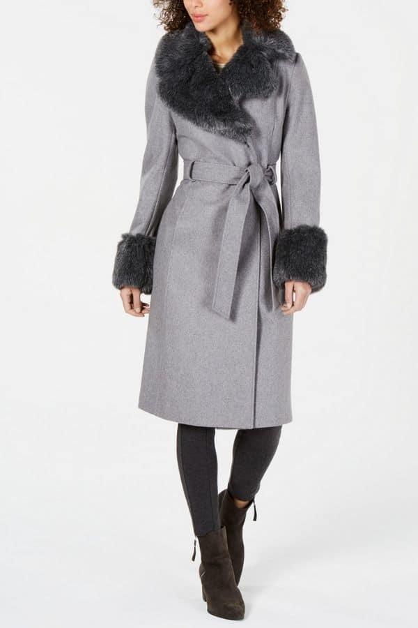 via spiga petite wrap coat