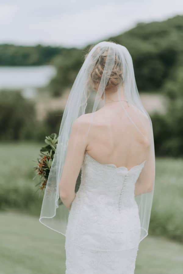 wedding veils for short brides