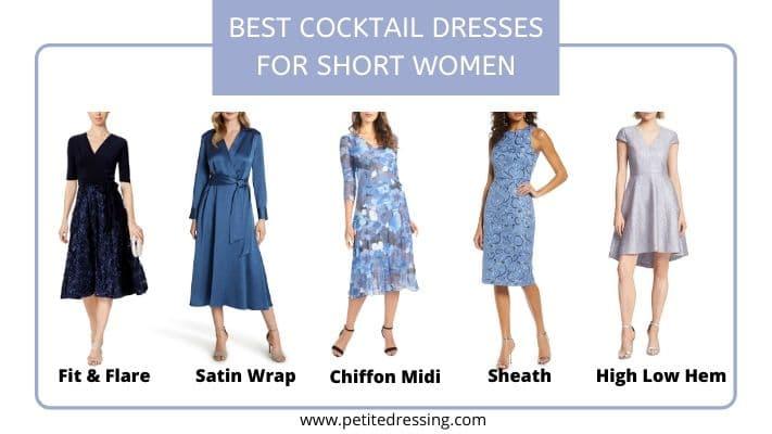 cocktail dresses for short women