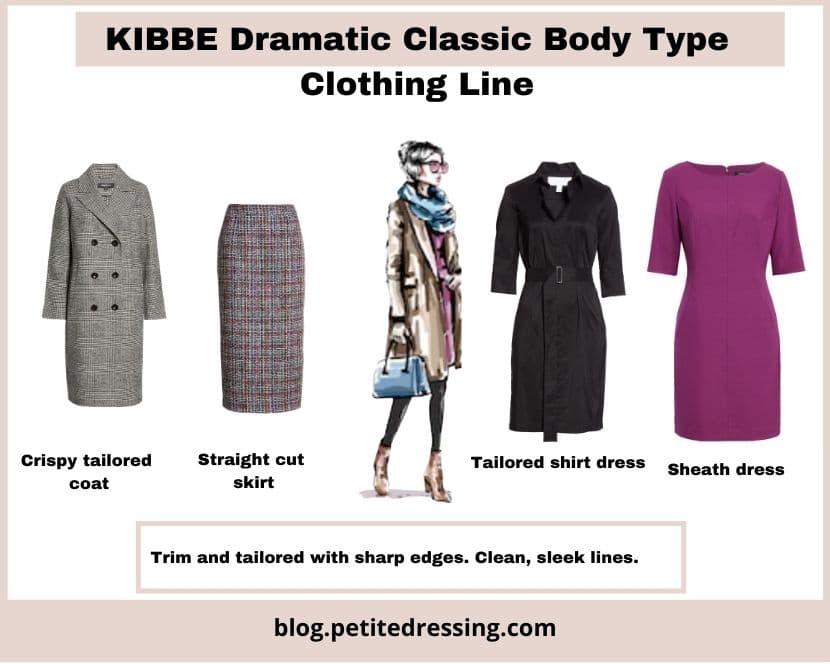 kibbe dramatic classic body type clothing