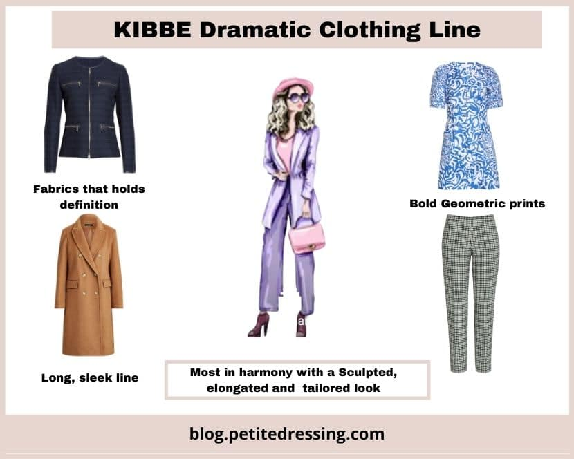 kibbe dramatic type clothing