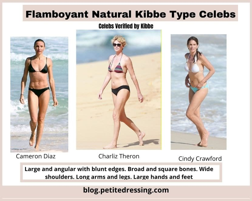 flamboyant kibbe natural body type features