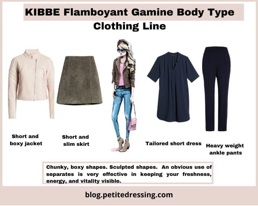 kibbe flamboyant gamine clothing