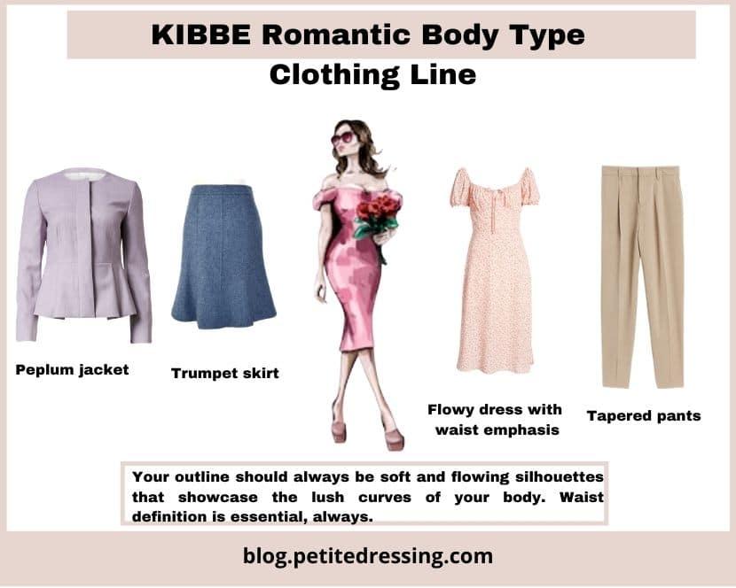 kibbe romantic body type clothing