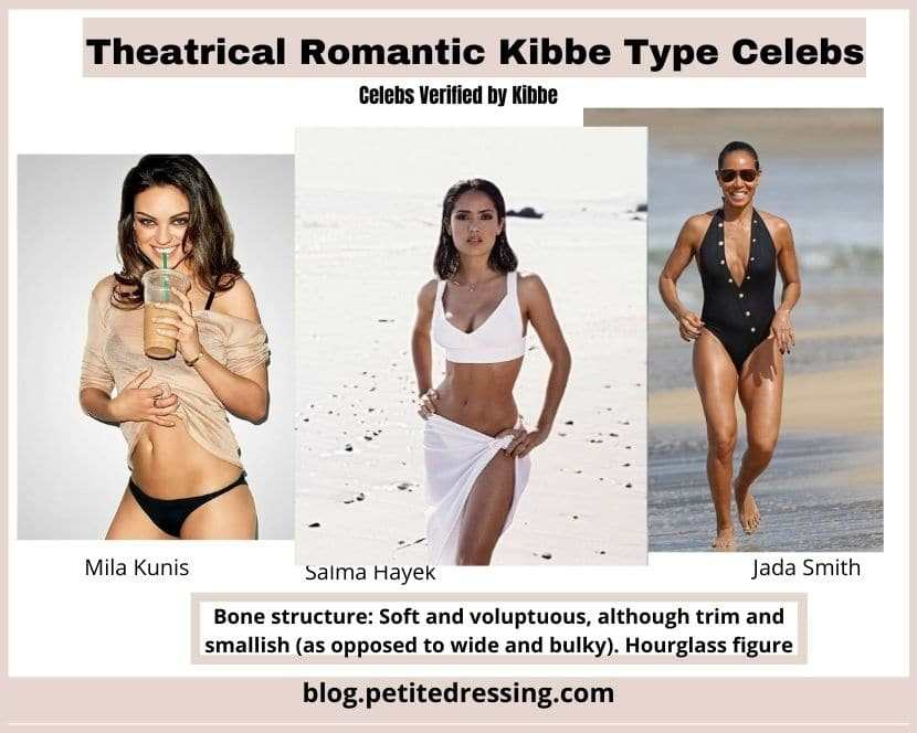 kibbe theatrical romantic celebrity list