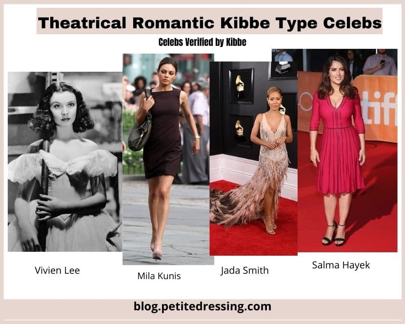kibbe verified theatrical romantic celebs