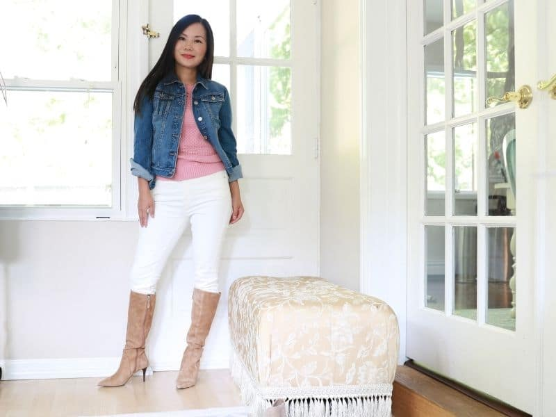 how to wear a denim jacket with jeans