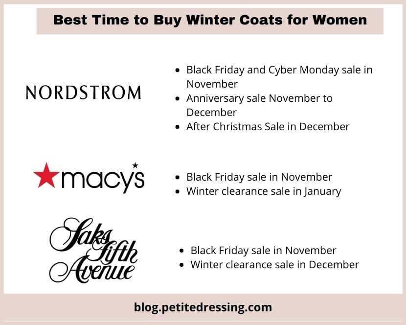 best time to buy winter coats for women