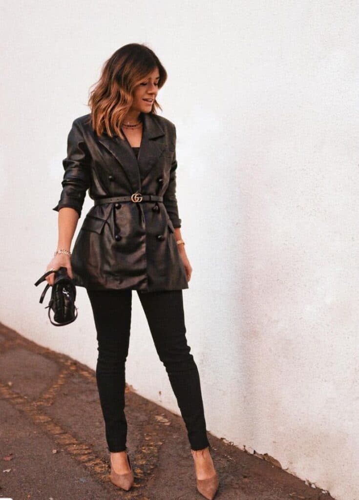 leather jacket black jeans outfit
