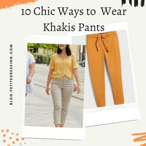 khakis pants outfits
