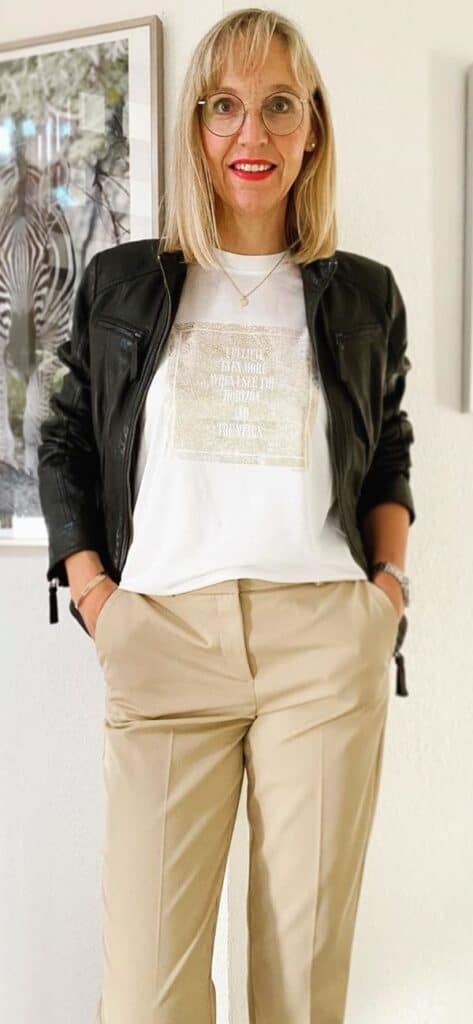 Leather jacket looks