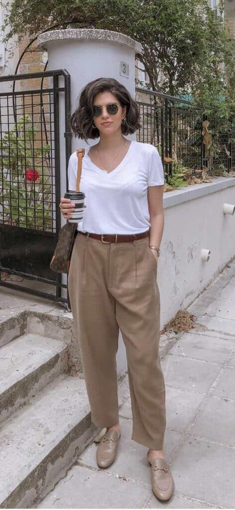 what to style khaki pants with