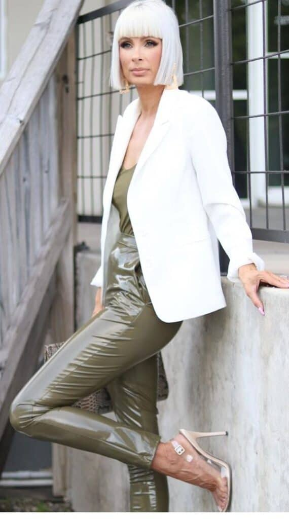 outfit with olive green pants