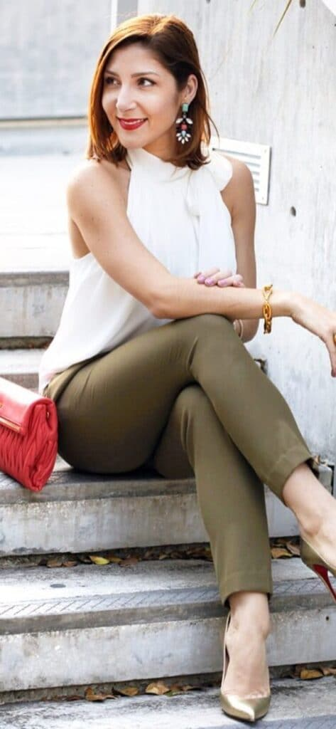 olive green pants pairing