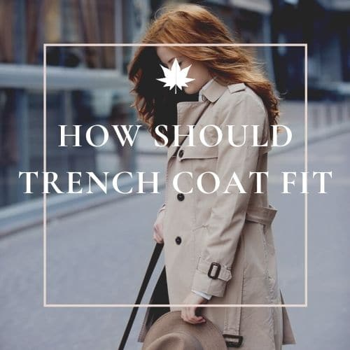 how should trench coat fit a woman