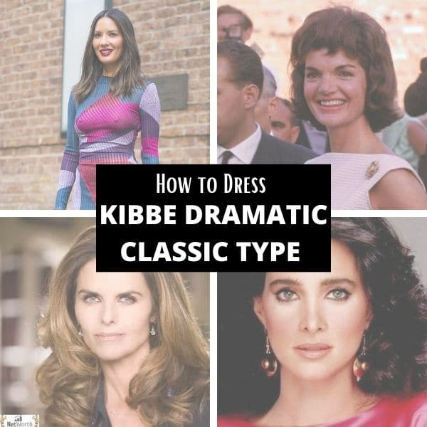 how to dress kibbe dramatic classic body type