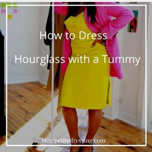 how to dress hourglass with a tummy