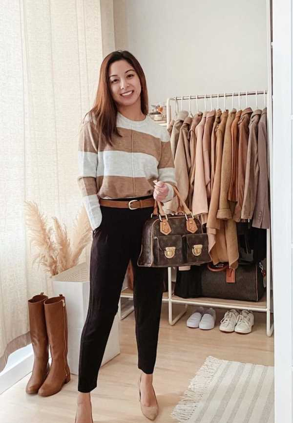 black jeans and sweater outfit