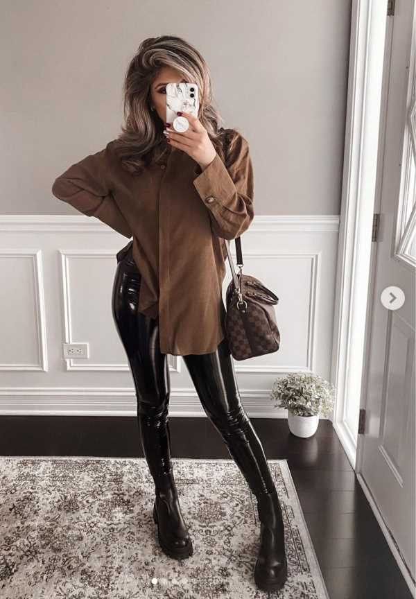 leather legging outfits