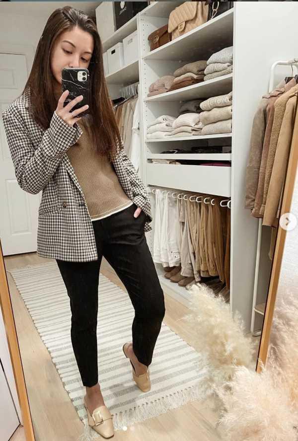 black jeans blazer outfit