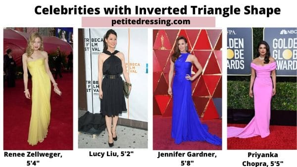 celebrities with inverted triangle body type