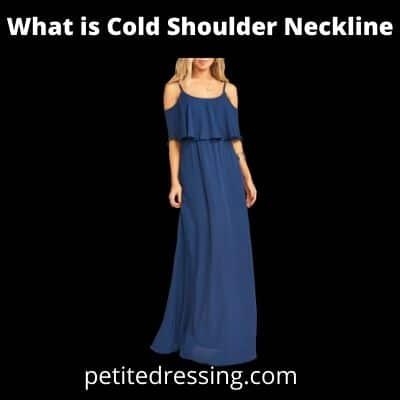 definition of cold shoulder neckline