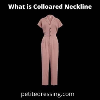 definition of collared neckline