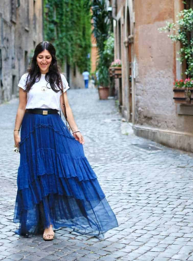 best maxi skirts outfits