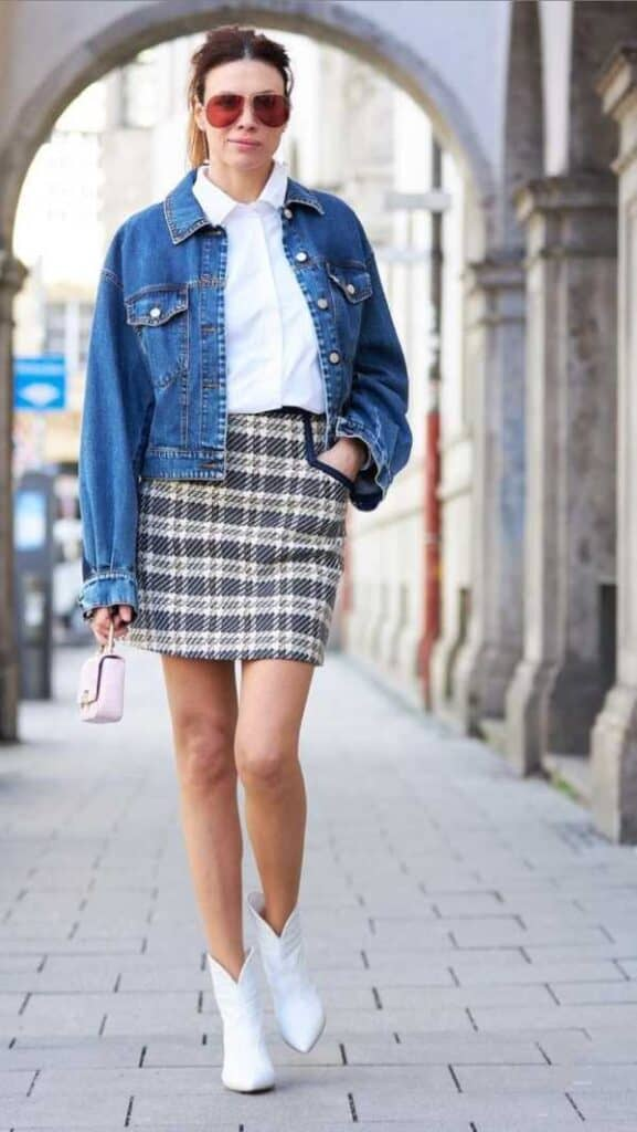 What to wear with plaid skirts