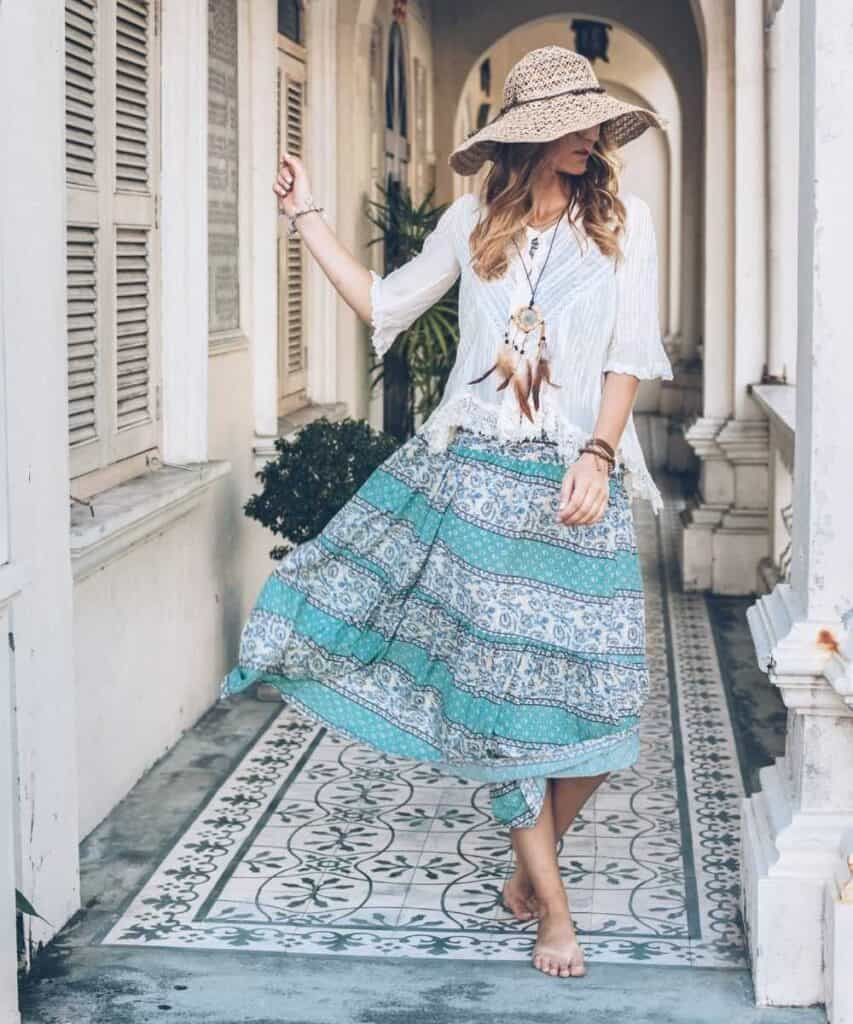 best summer looks for maxi skirts