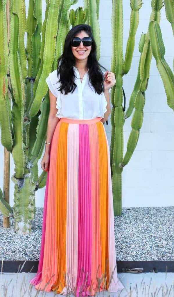 best maxi skirt outfit