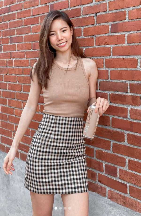 plaid skirt outfit inspiration