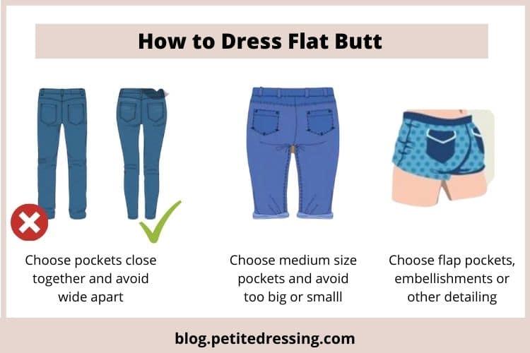 how to dress flat butt