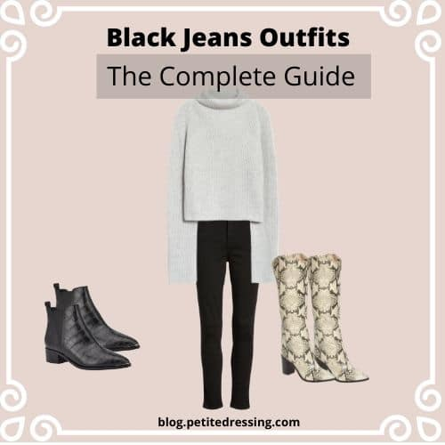 best black jeans outfit